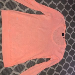 ORANGE/CORAL SAKS 5TH AVE LONG SLEEVE